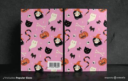 Diseño de portada de libro Doodle de Halloween