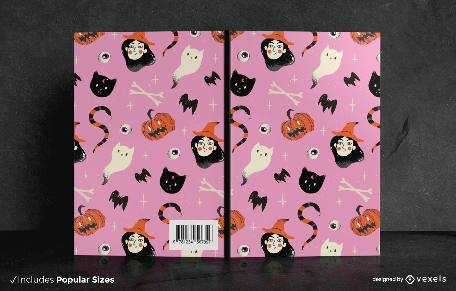 Halloween Doodle Book Cover Design