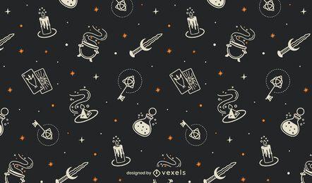Diseño de patrón de halloween místico