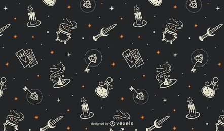 Mystic halloween pattern design