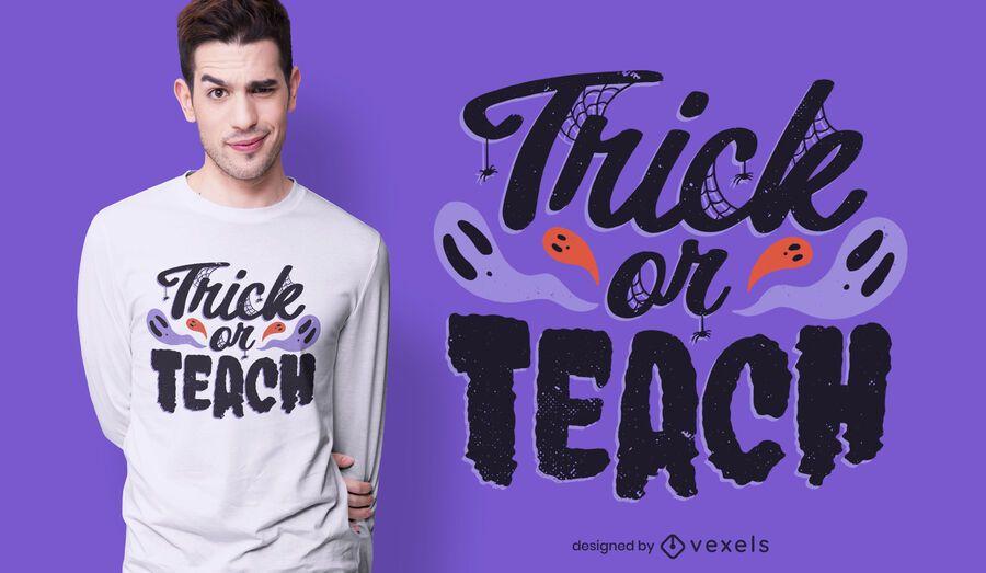 Engane ou ensine o design de camisetas do Dia das Bruxas