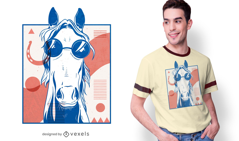 Diseño de camiseta de caballo abstracto