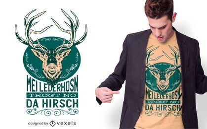 Deer quote t-shirt design