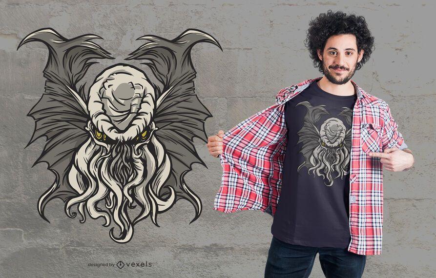 Cthulhu entity t-shirt design