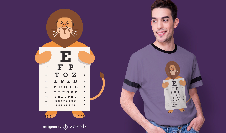Diseño de camiseta con gráfico de ojos de león