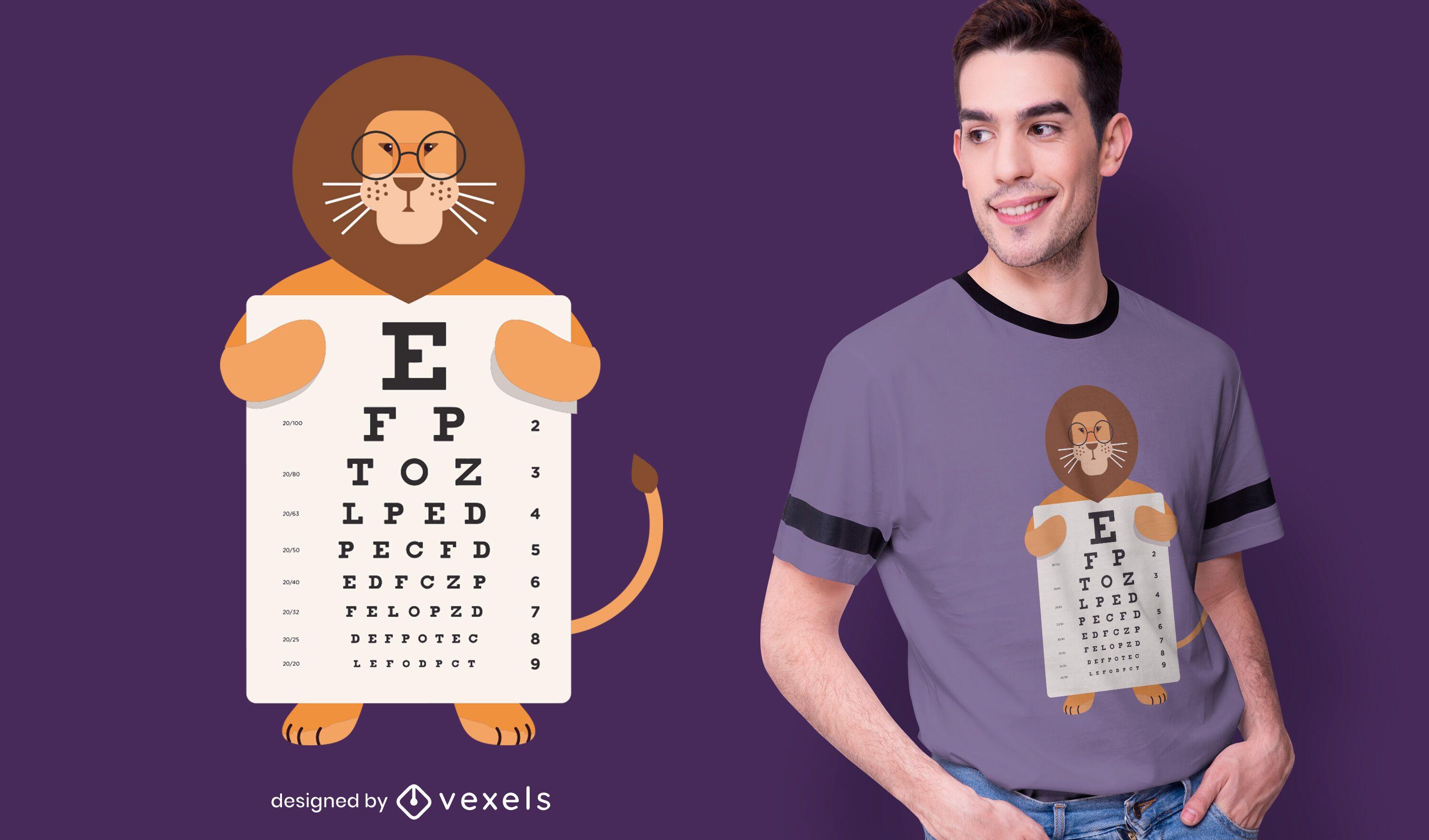 Lion eye chart t-shirt design