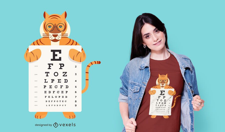 Design de camiseta Tiger Eye Chart