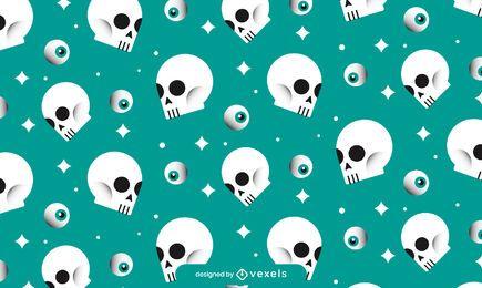 Schädel Halloween Muster Design
