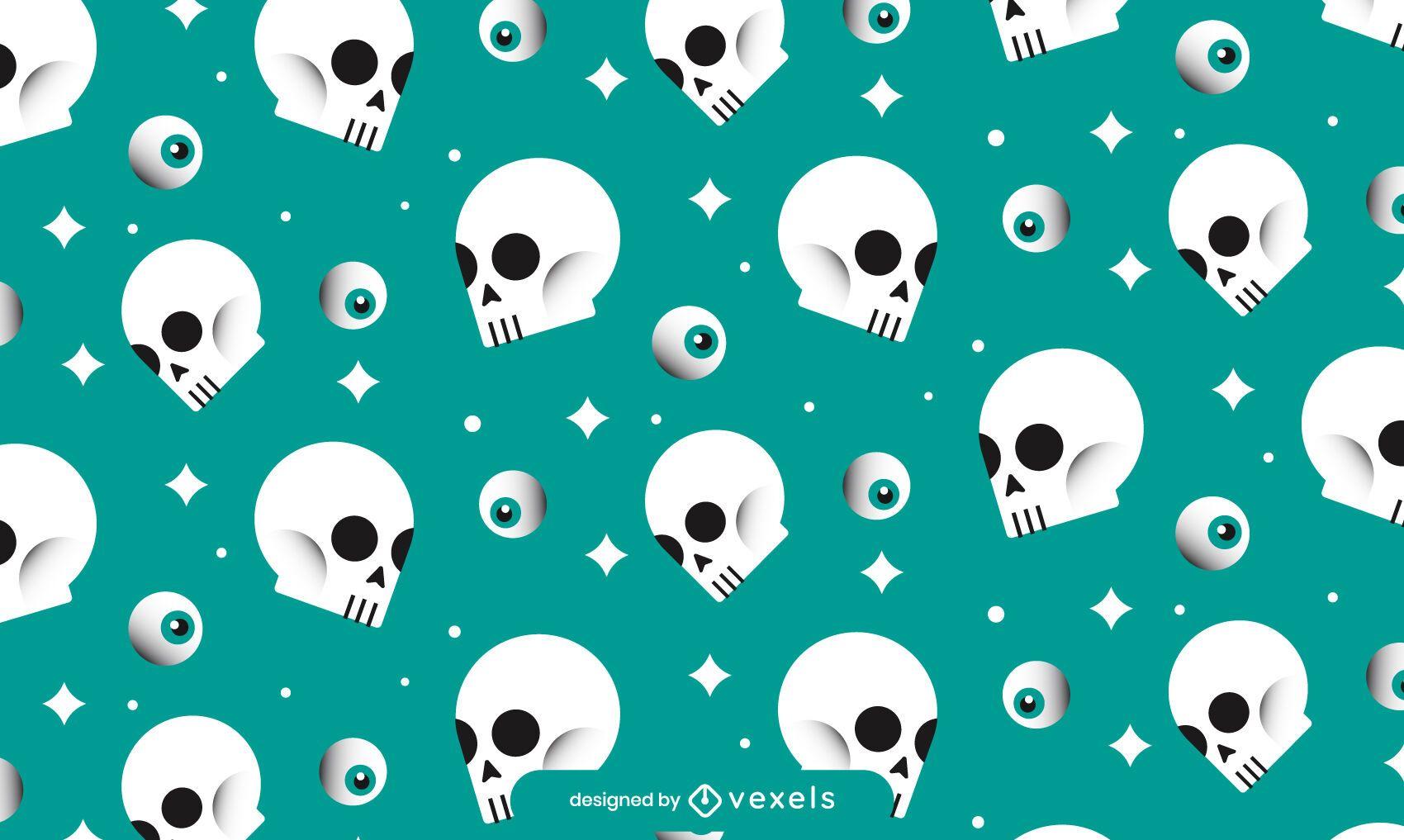 Skulls halloween pattern design