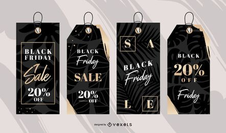 Conjunto de etiquetas de venda Black Friday
