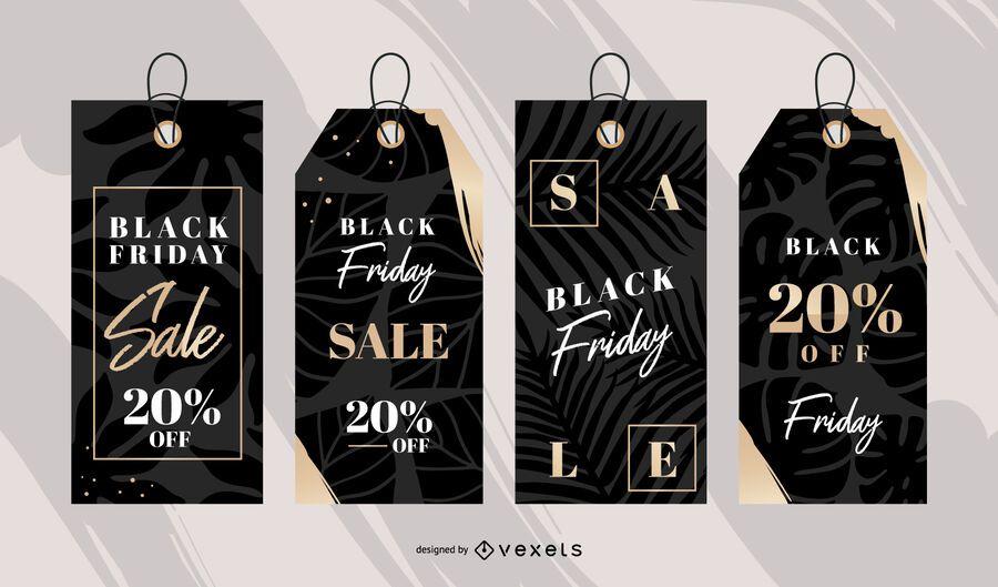 Black friday sale tag set
