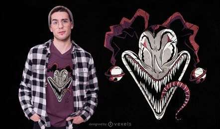 Diseño de camiseta de payaso monstruo