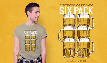 Design de camiseta Beer Six Pack