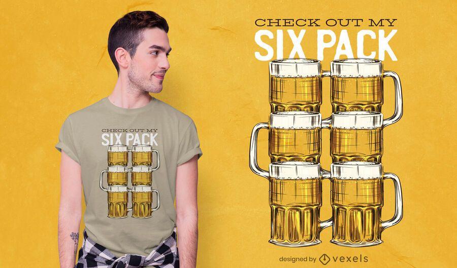 Beer Six Pack T-shirt Design