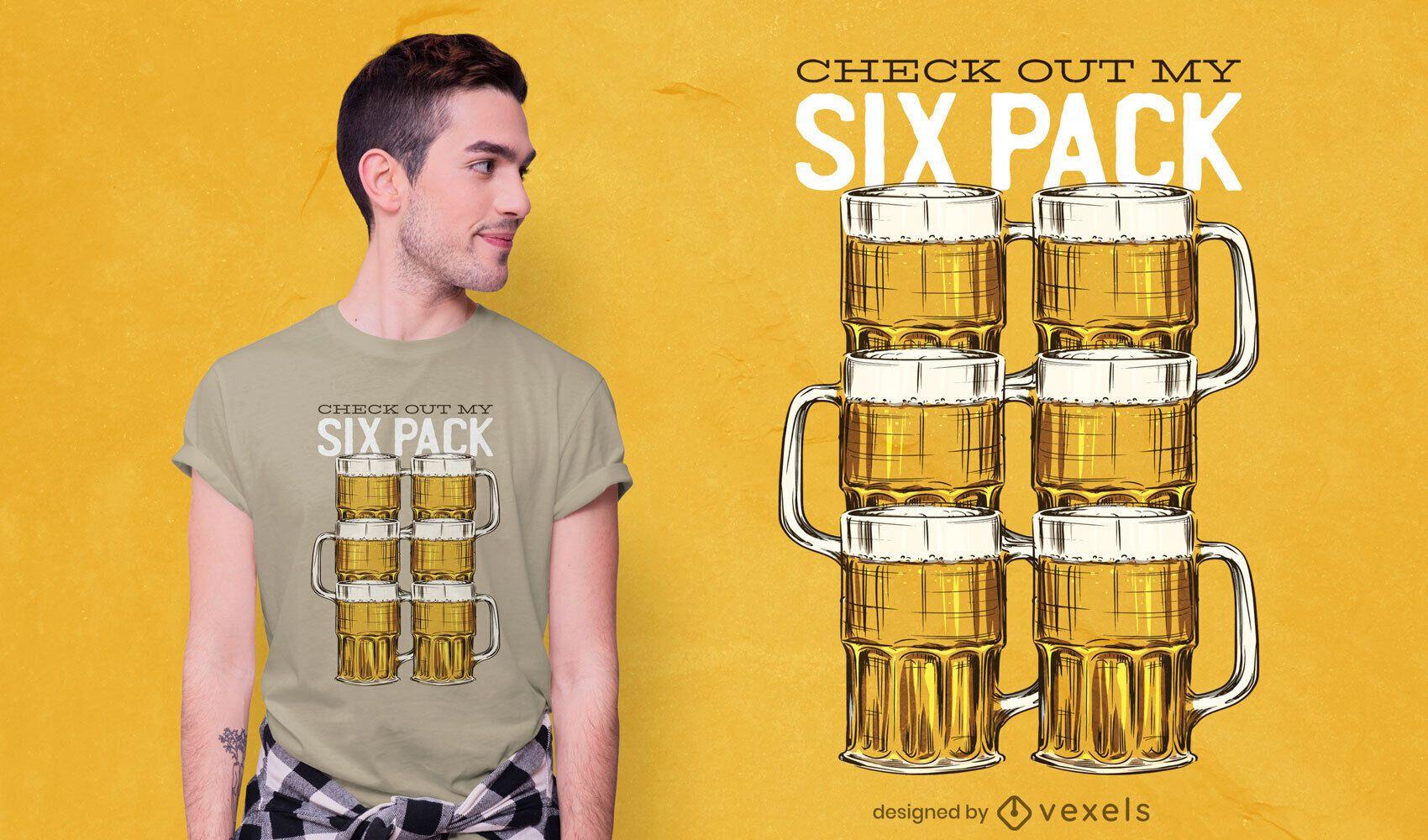 Design de camiseta Beer Six Pack
