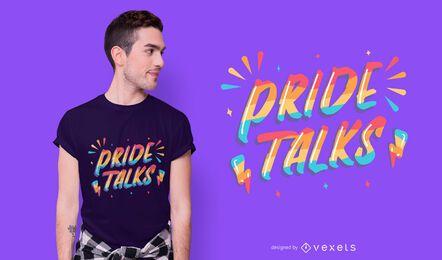 Diseño de camiseta Pride Talk