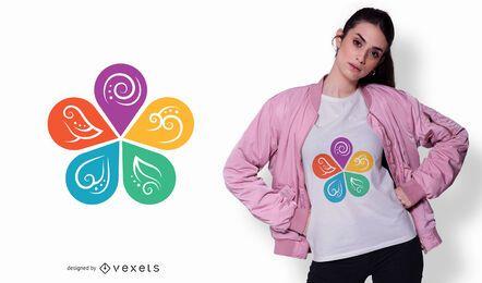 Diseño de camiseta de medicina ayurvédica.