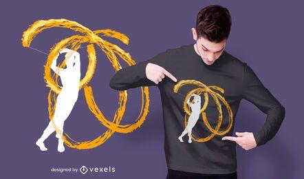 Diseño de camiseta de artista de fuego poi