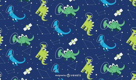 Desenho de padrão de constelações de dinossauros