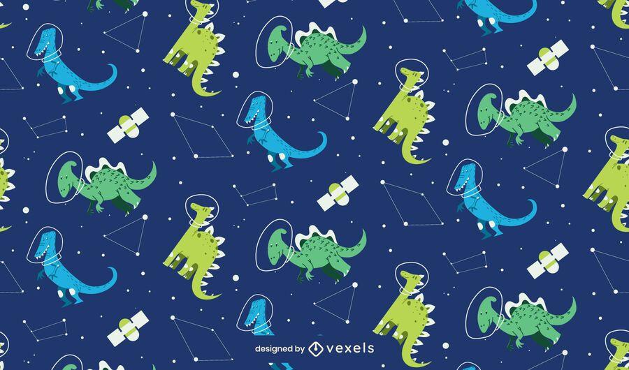 Dinosaur constellations pattern design