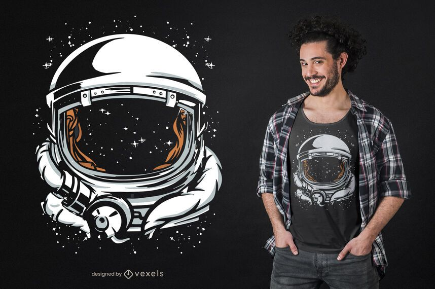 Astronaut helmet space t-shirt design