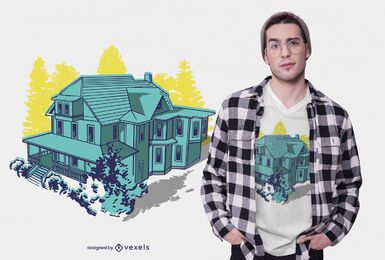 House duotone t-shirt design