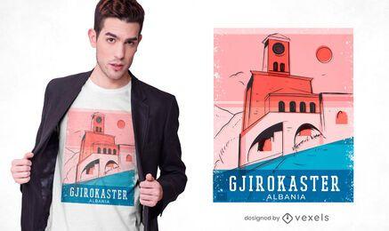 Diseño de camiseta del castillo de Gjirokastër