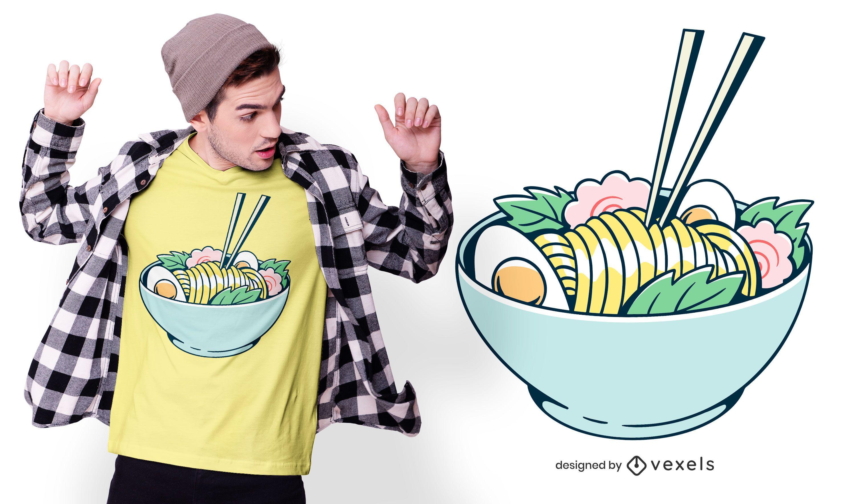 Ramen noodles t-shirt design