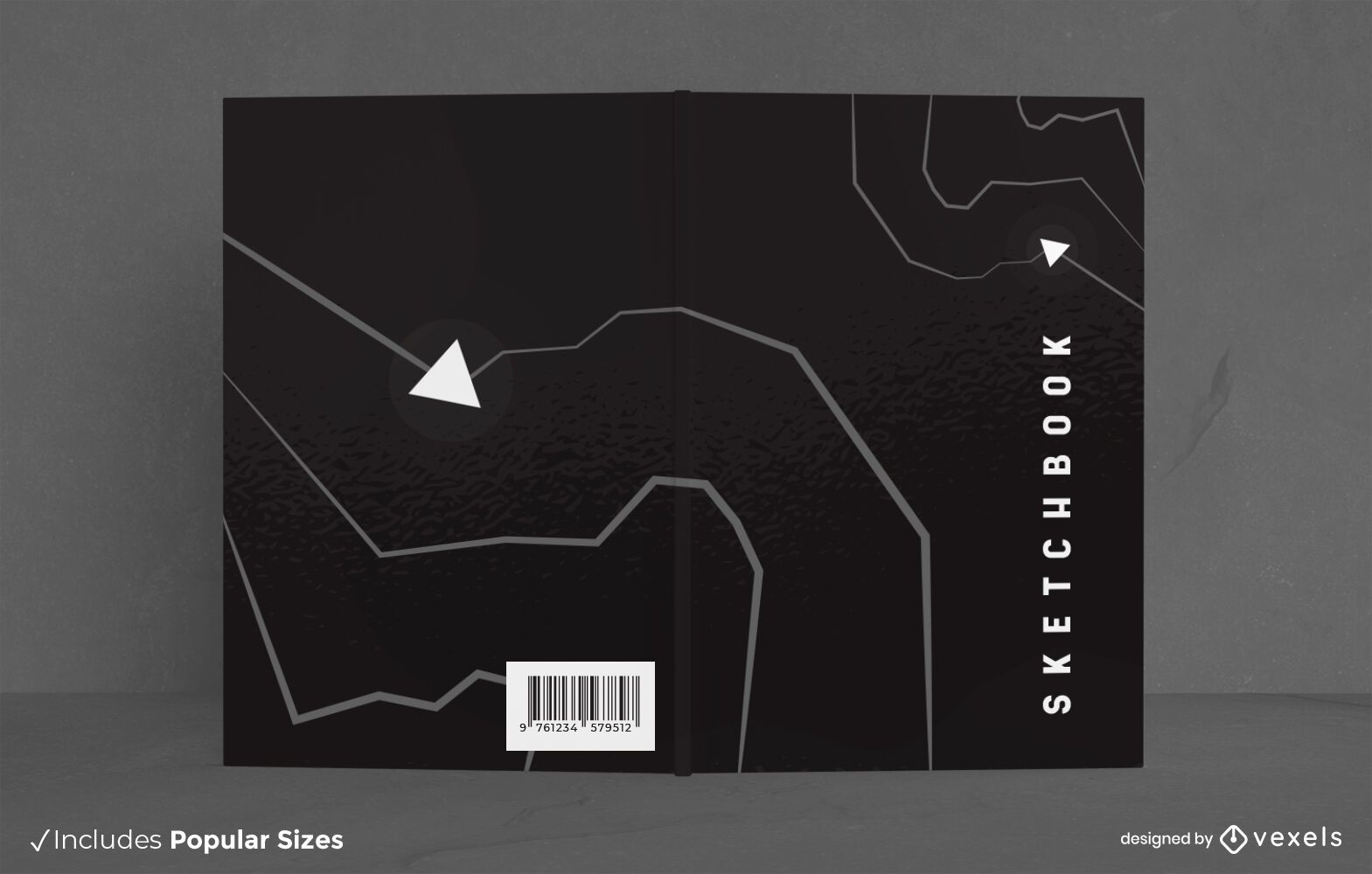 Minimalistic Black Sketchbook Cover Design