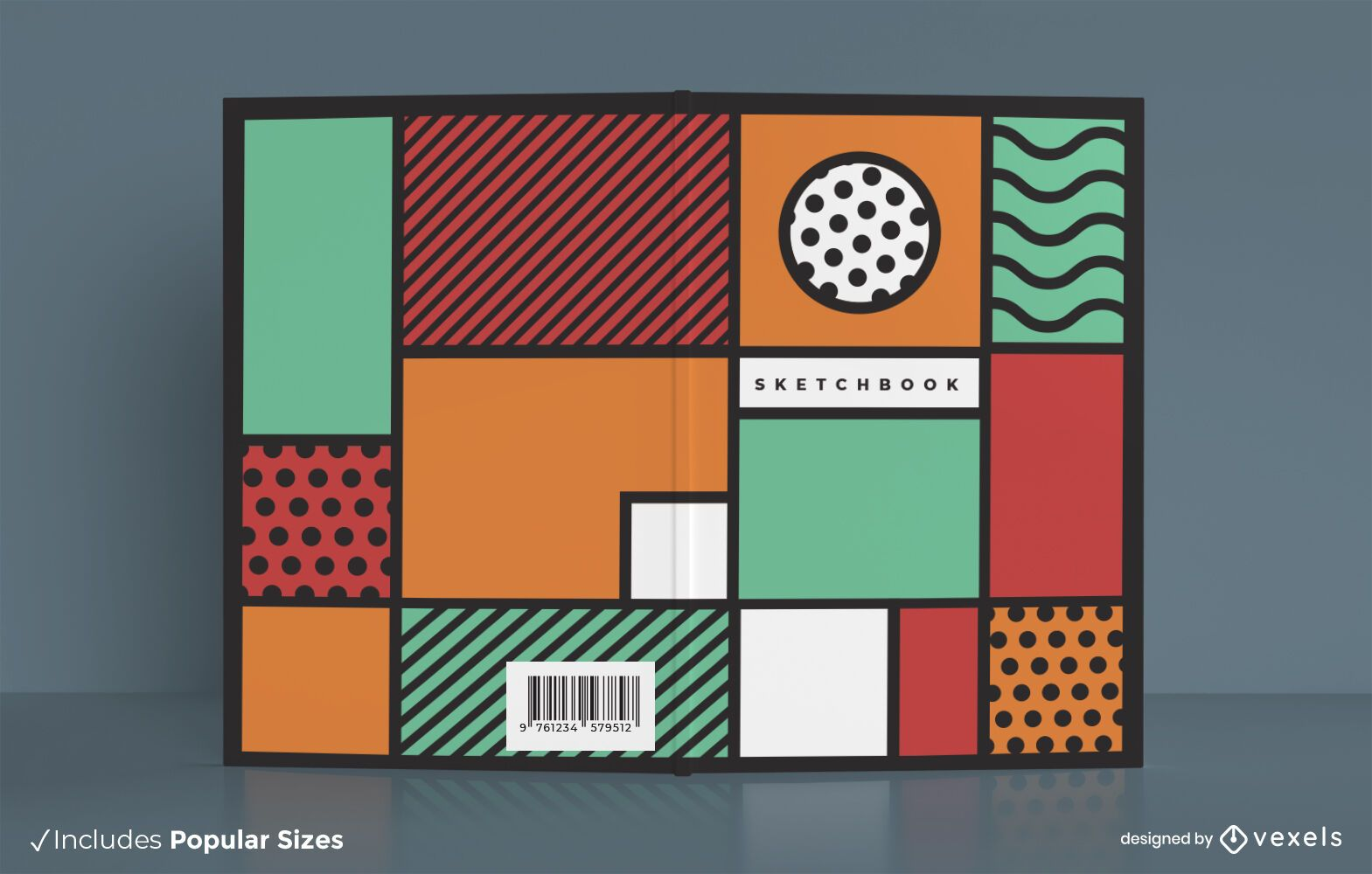 Abstract Colorful Sketchbook Cover Design
