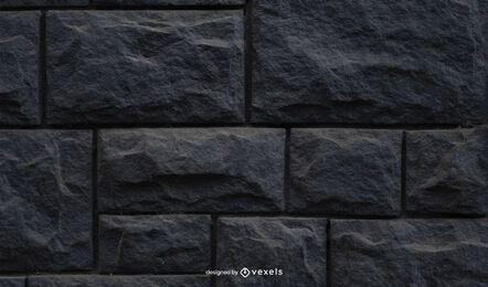 Textura de pared de piedra negra