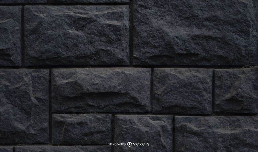 Black Stone Wall Texture