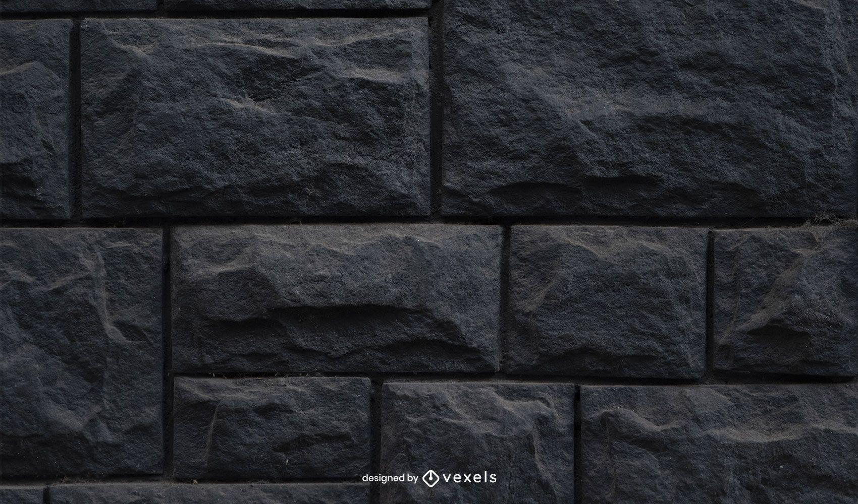 Black Stone Wall Texture