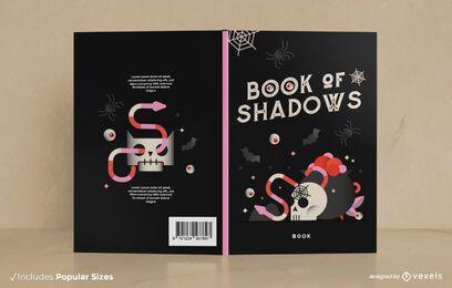 Design da capa do livro das sombras