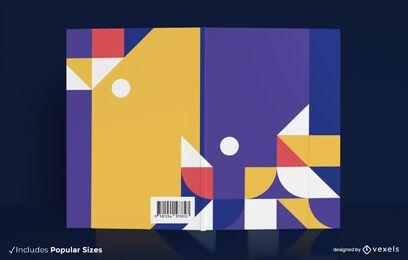 Design da capa do livro com formas geométricas coloridas