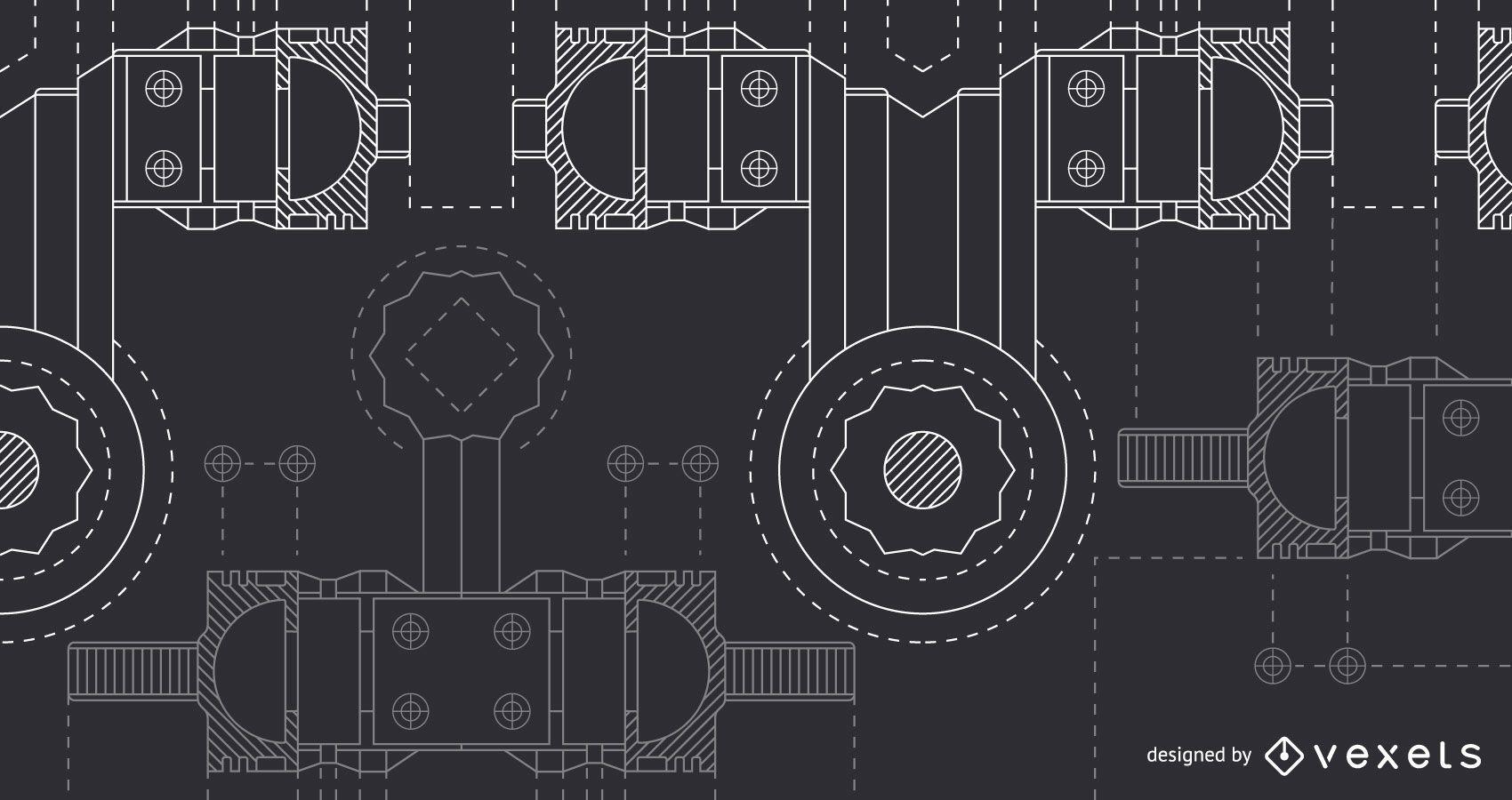 Diseño de fondo de ingeniería negro