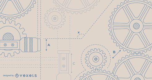 Beige Engineering Background Design