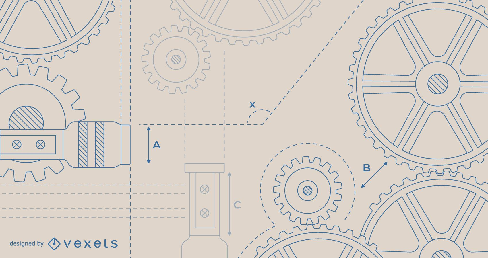 Diseño de fondo de ingeniería beige