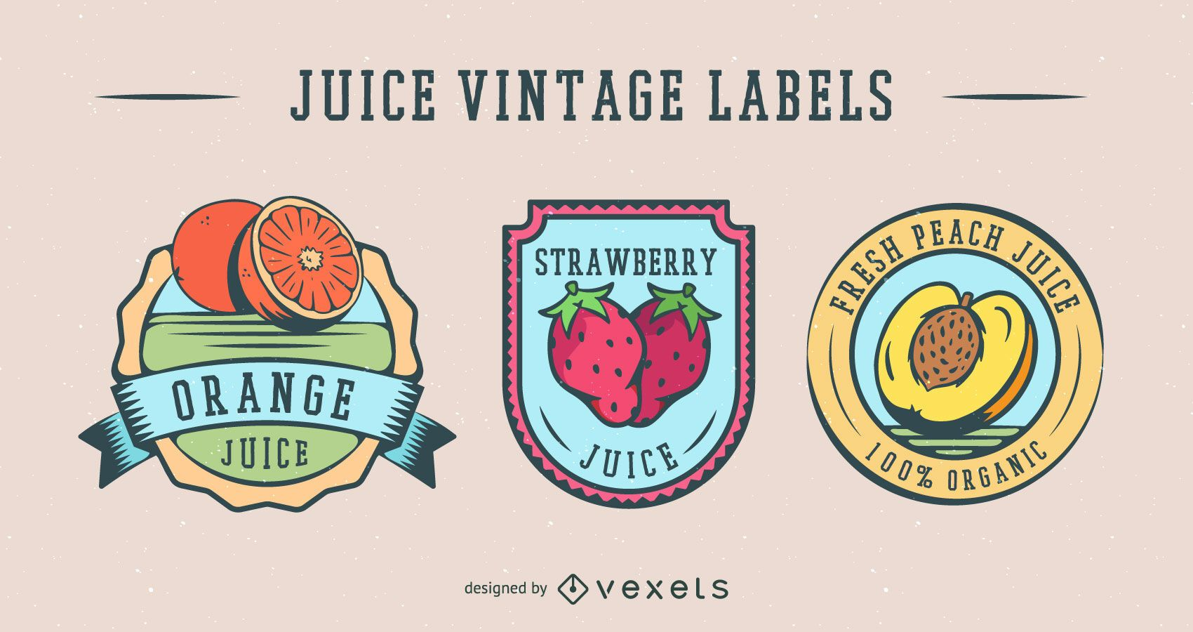 Fruit Juice Vintage Label Pack