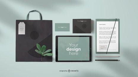 Composición de maqueta de marca empresarial