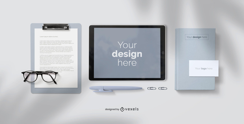 Composição de maquete de negócios de branding