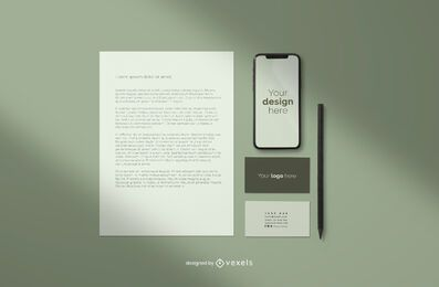 Branding professional mockup composition