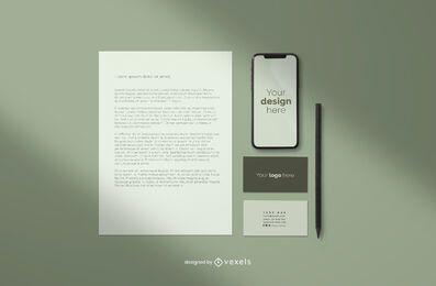 Composición de maqueta profesional de marca