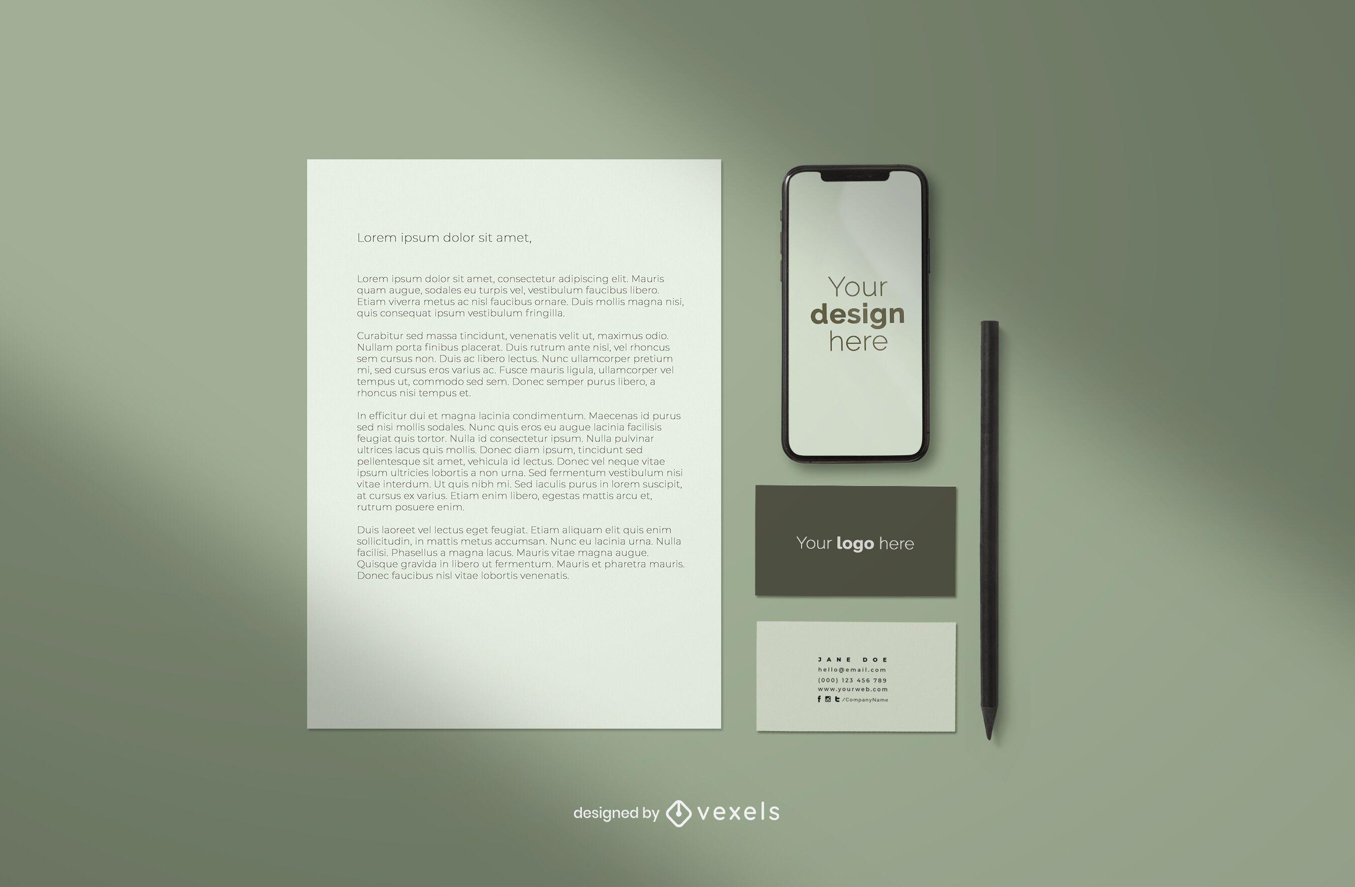 Branding professional mockup composition