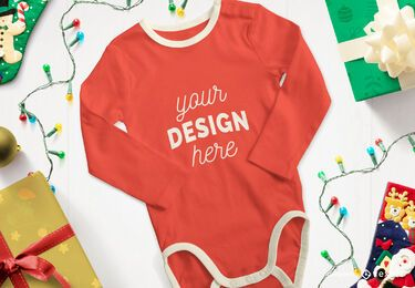 Christmas onesie mockup composition
