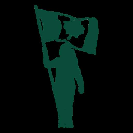 Canada flag bearer silhouette