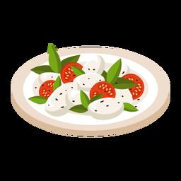 Ilustración de ensalada caprese