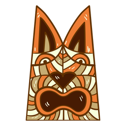 Hawaii tiki totem flat