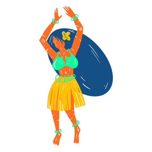 Hawaiian female dancer illustration