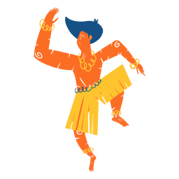 Hawaiian male dancer illustration